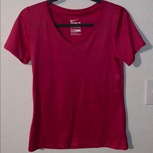 Pink Nike V Neck